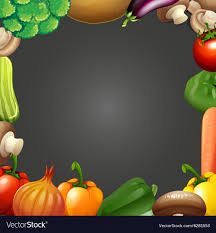 Vegetable Border Design Border Design With Fresh Vegetables