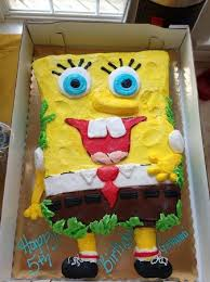 Spongebob Cake For My Sons Birthday Picture Of Connies Cakes