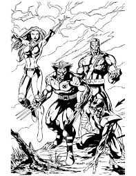 Small Picture X Men Wolverine And Team Coloring Page H M Coloring Pages
