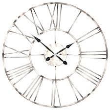 metal wall clocks large metal wall clock large vintage copper effect industrial skeleton metal wall clock