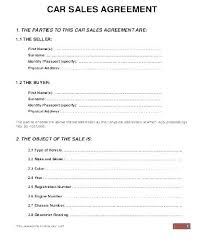 Personal Car Sale Agreement Vehicle Contract Template Private Car Sale Contract Template