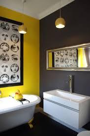 Yellow Bathroom Designs Yellow White Black Bathroom Yellow Bathroom Interior