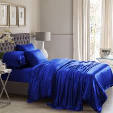 royal blue silk bed linen from the finest mulberry
