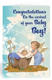 New Baby Greeting Card Congratulations Guardian Angel Bc9403