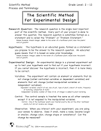 How To Make An Experimental Design The Scientific Method For Experimental Design