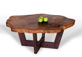 modern tree trunks coffee table