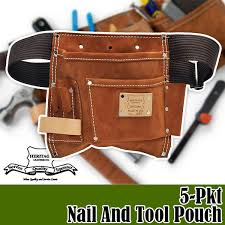 heritage leather heritage leather 5 pkt nail and tool pouch waist bag hl495