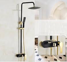 bathroom black oil rubbed brass bathtub shower set wall mounted rainfall shower mixer tap faucet 3 functions mixer valve shower set shower faucet set wall