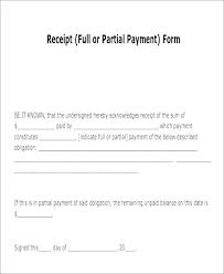 Receipt Form Template