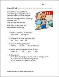Comprehension, Reading comprehension worksheets and Comprehension ...Reading Comprehension - Sam and Frank