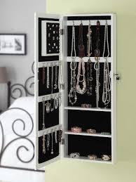 Jewelry Wall Organizer Mirrored Jewelry Cabinet In Creative Organizer Med Art Home