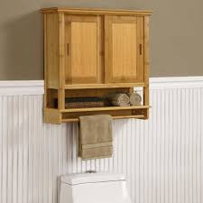 Innovation Bathroom Wall Storage Metal Un Varnish Wood Cabinet With Throughout Design