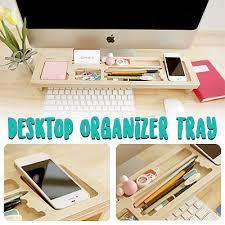 office study desk. Desktop Organizer Tray ☆ Office Study Table Wooden Computer Keyboard Storage Holder Desk
