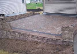 raised paver patio. Delighful Patio Choose A Flooring Option Like Concrete Pavers Brick Or Natural Stones To  Fit The Design And Style Of Your Landscape And Raised Paver Patio