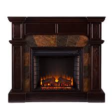 cartwright convertible media electric fireplace mission oak