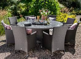 hartman appleton weave 8 seater round dining set in slate stone 1025 garden4less uk