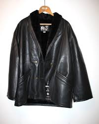 brand new vintage men leather jacket gv emporio handmade in italy size xl