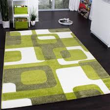 Trendiger Retro Teppich In Grün Grün Grüntöne Rugs On