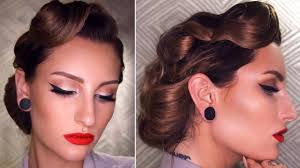 Retro Hair Style 50s inspired vintage updo hairstyle tutorial youtube 8914 by wearticles.com