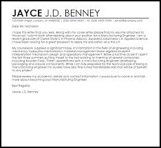 cover letter for manufacturing jobs manufacturing engineer cover letter sample livecareer
