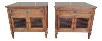 Henredon French Style Hollywood Regency Nightstands - A Pair | Chairish