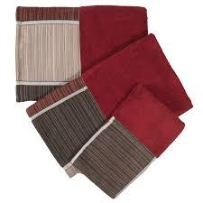 modern line burgundy bath collection  pc towel set  bath