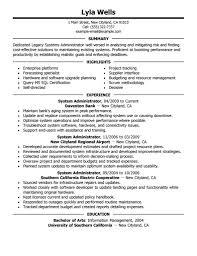 Network System Administrator Sample Resume Resume Jobs Unix Computer Network Administrator Sample Resume System 1