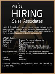 Sales Associate Qualifications Position Sales Associate Qualification Graduate From A