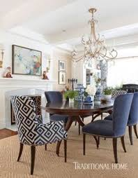 love these chairs especially the printed one navy blue dining chairs dining room