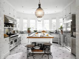 French Bistro Inspired Kitchen (Riverdale, Toronto) traditional-kitchen