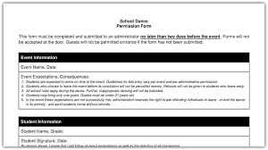 Permission Slip Forms Template Free Field Trip And School Permission Forms Templates