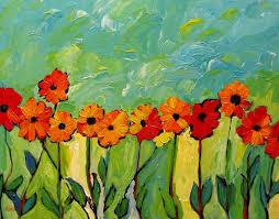 abstract gerber daisies