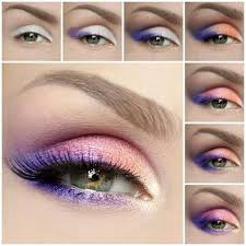 clic summer morning inspired fun eye makeup tutorial orange pinks and purples pretty ideas