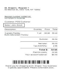 Grocery Receipt Template Furniture Sales Invoice Receipts