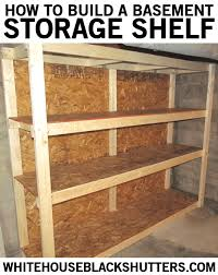 how to make a basement storage shelf in one night for only 60