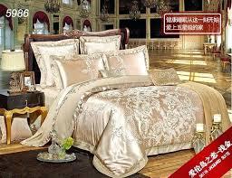 luxury silk bedding red wedding comforter sets king