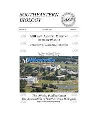 southeastern biology association of