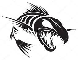 скачать скелет рыбы стоковая иллюстрация рыбы иллюстрации