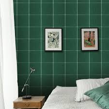 nordic bedroom self adhesive wall stickers home decor dark green blue plaid dormitory decoration sticker wallpaper living room wallpaper with images