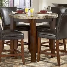 achillea round counter height table with marble top