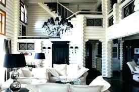 white purple living room brown