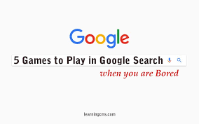 play in google when you are bored