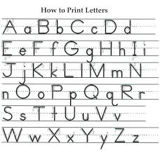 Printable Zaner Bloser Alphabet Chart How To Write The Letters With Sayings And Things That