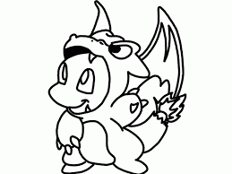 Small Picture Pokemon Charmeleon Coloring Pages Charmander Coloring Pages Manga