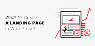 How To Creat How To Create A Landing Page In Wordpress Step By Step