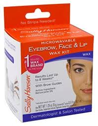 sally hansen microwaveable eyebrow face lip wax kit pack of 3 review