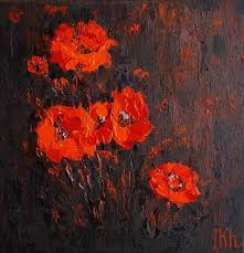 red poppies oil saatchi art artist iryna khmelevska painting blossom series red poppies oil