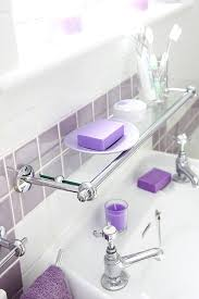 view in gallery glass shelving above a bathroom sink