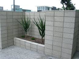 cinder block garden wall painted cinder block garden wall