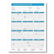 2015 Employee Attendance Calendar Free Printable Attendance